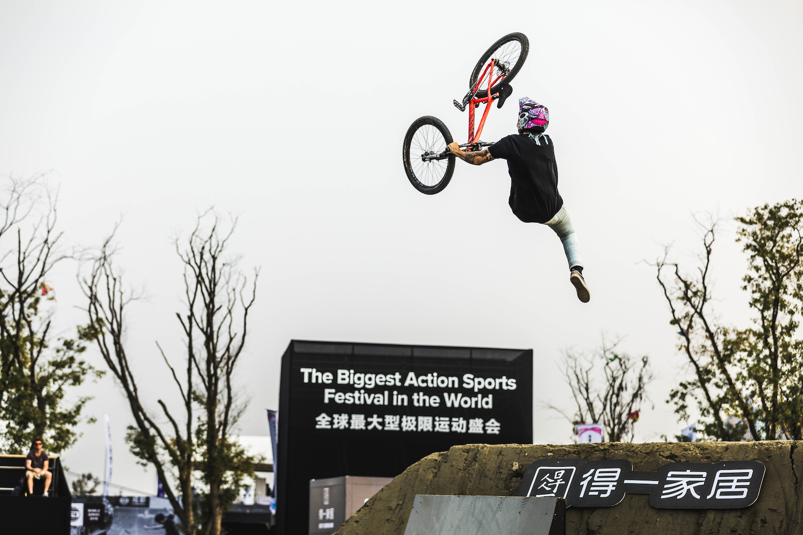 Backflip Double Whip from Chengdu s MVP Tomas Lemoine.