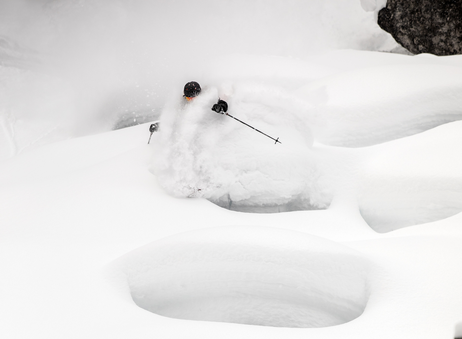 Blasting pow photo by Chris Bezamat