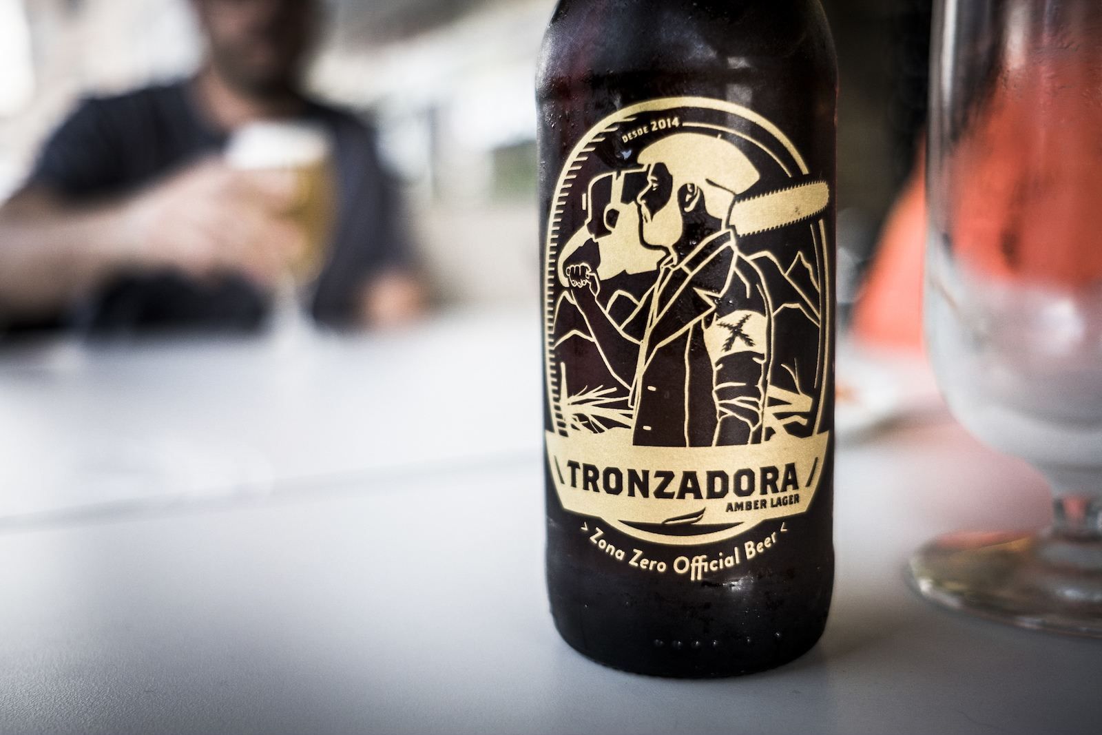 Tronzadora beer the riders brew. A percentage of the beer s profits goes towards local trail building projects.