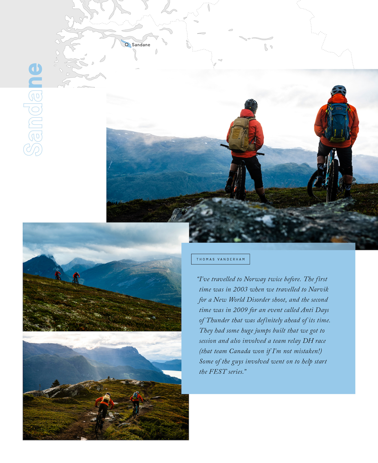 Thomas Vanderham and Remi Gauvin in Norway s Nordfjord region