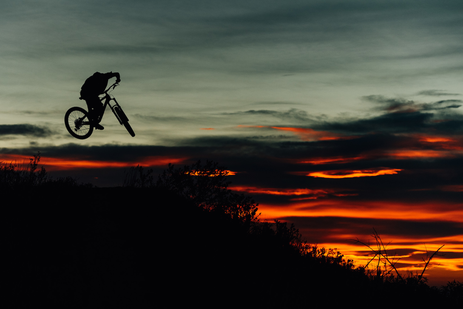 What a way to end a huge day of riding.