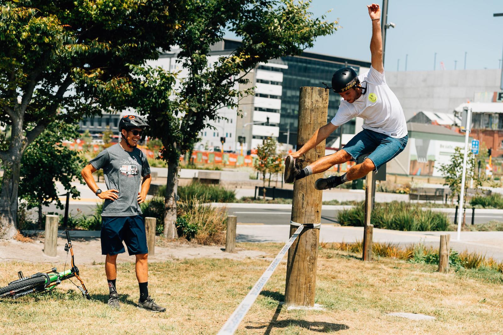 Billy proving he s got the balance skills.