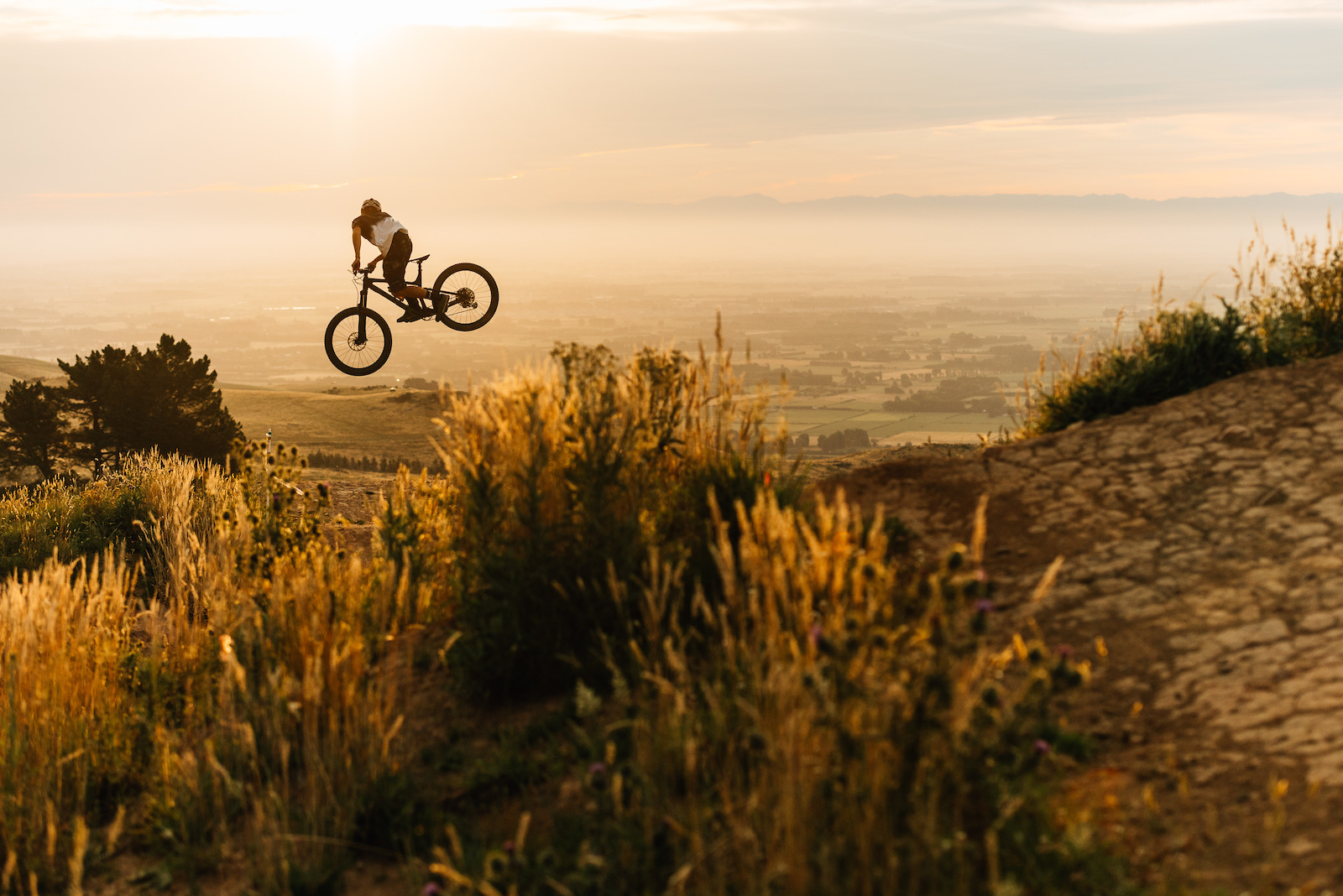 Sunset Whips on the top section of Airtearoa.