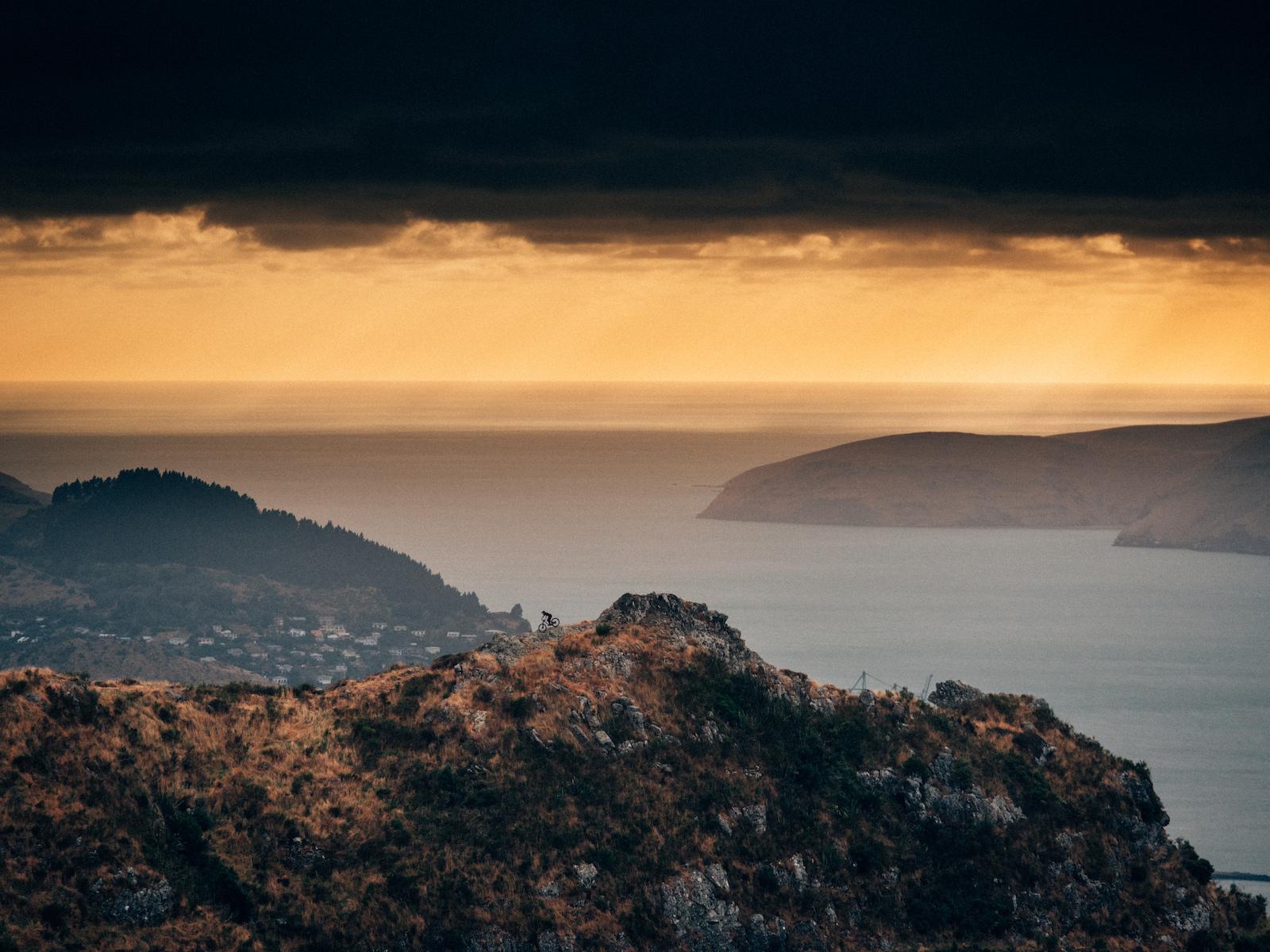 Sunrise above, Lyttelton - New Zealand