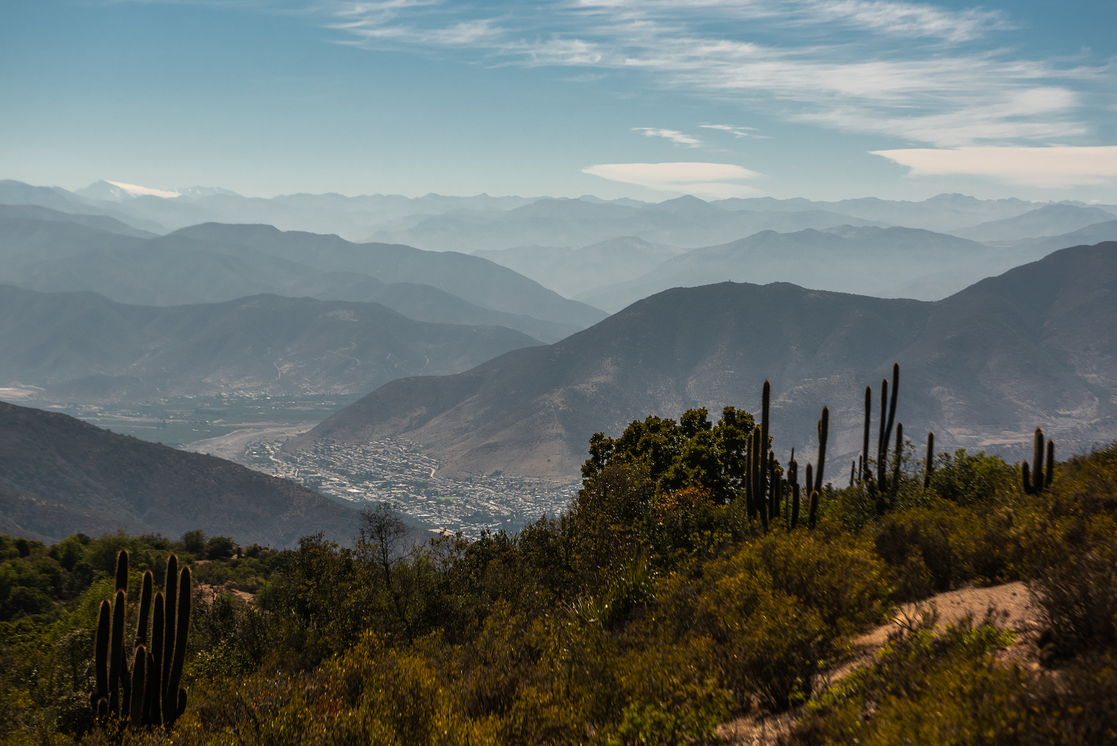 With the Andes oil the rear view the race headed for the Coastal Range.