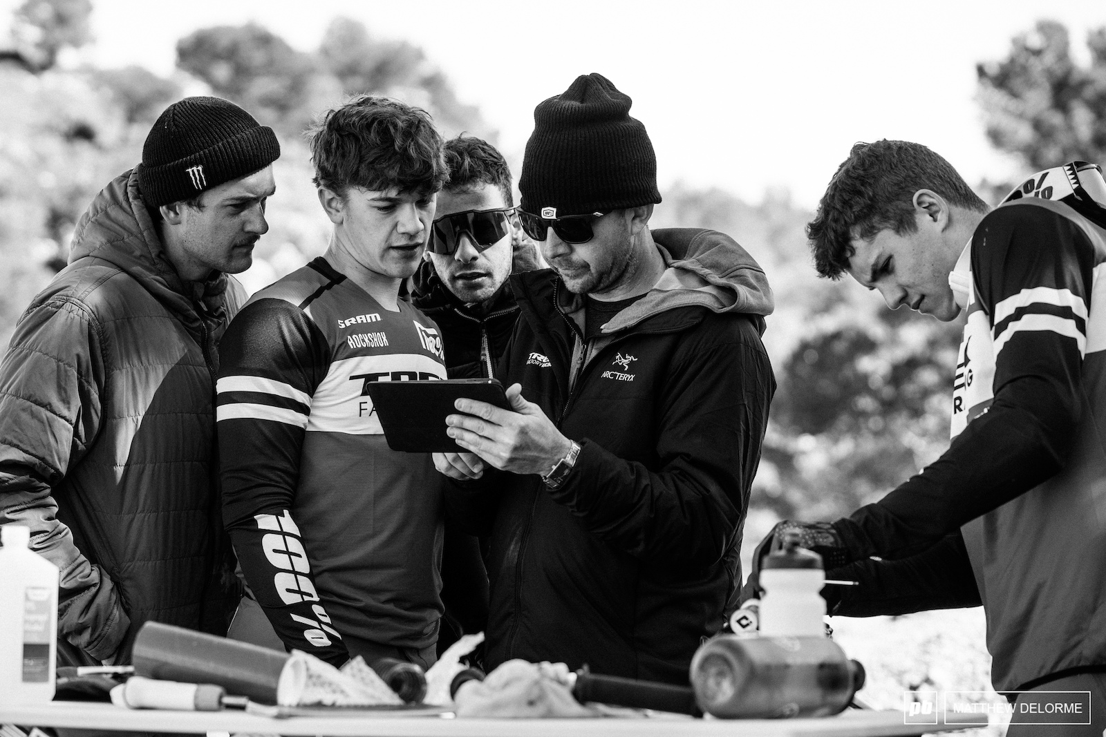 Ryan Gaul and the boys go over on track video during testing. Those bikes will be the best they can possibly be come race day.