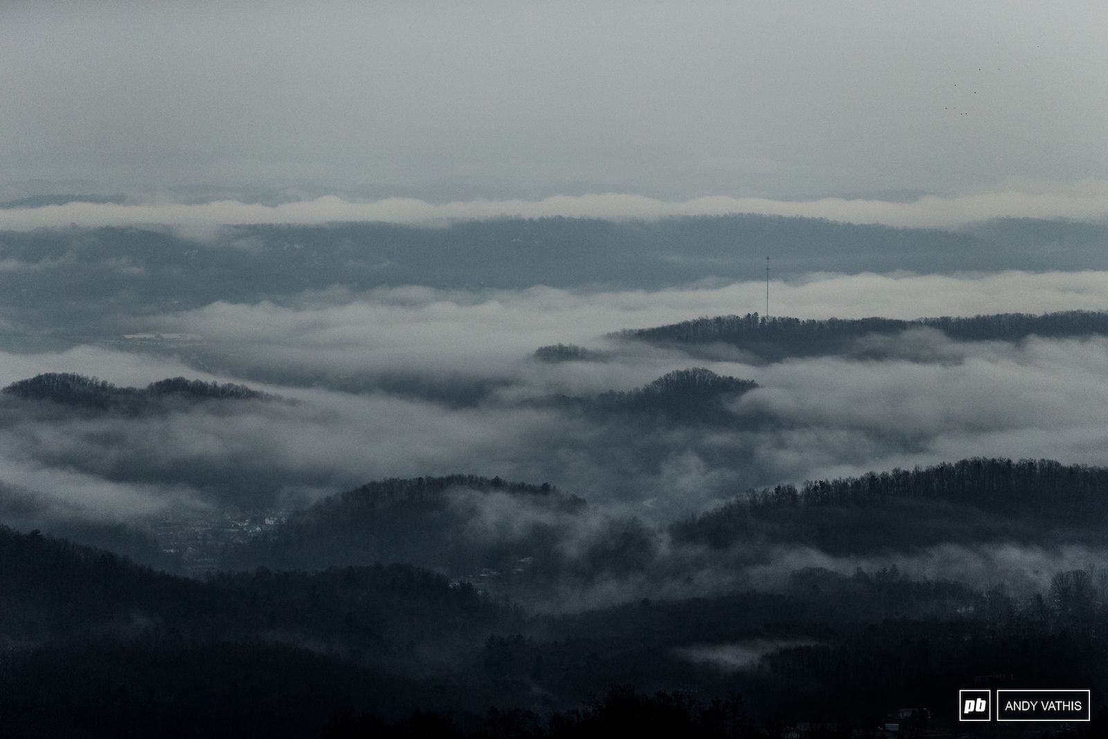 Rolling fog over Eastern Tennessee.
