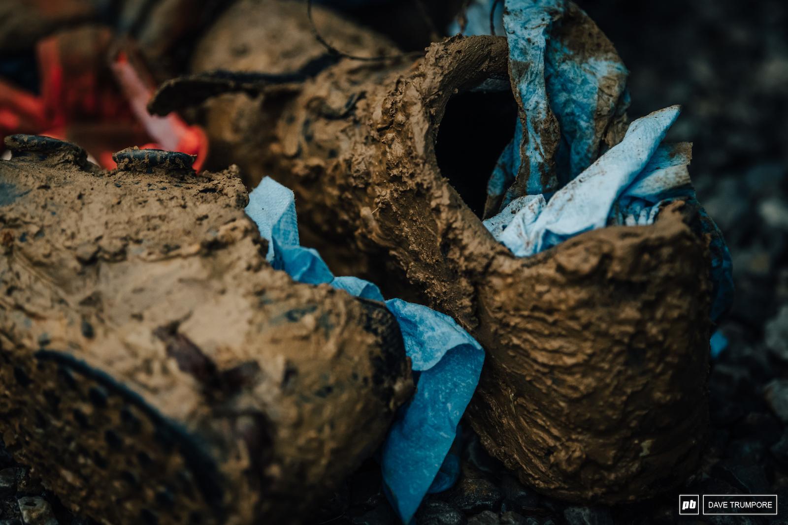 Sometime ya gotta do what ya gotta do to keep you equipment going in the mud.