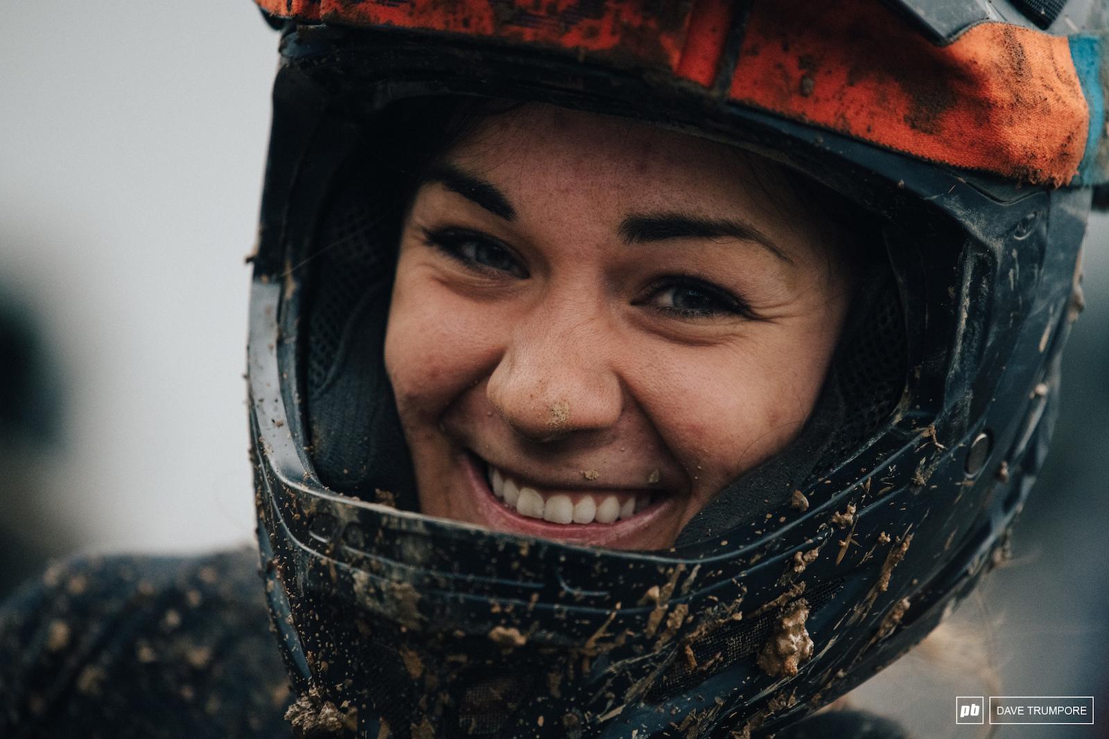 All smiles for women s winner Rachel Pageau.