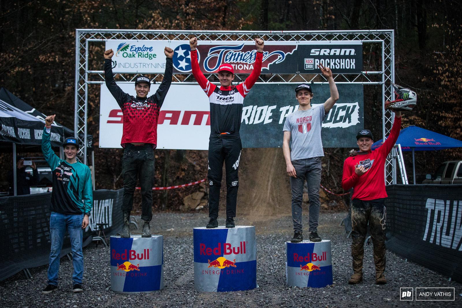 Junior Men s podium.