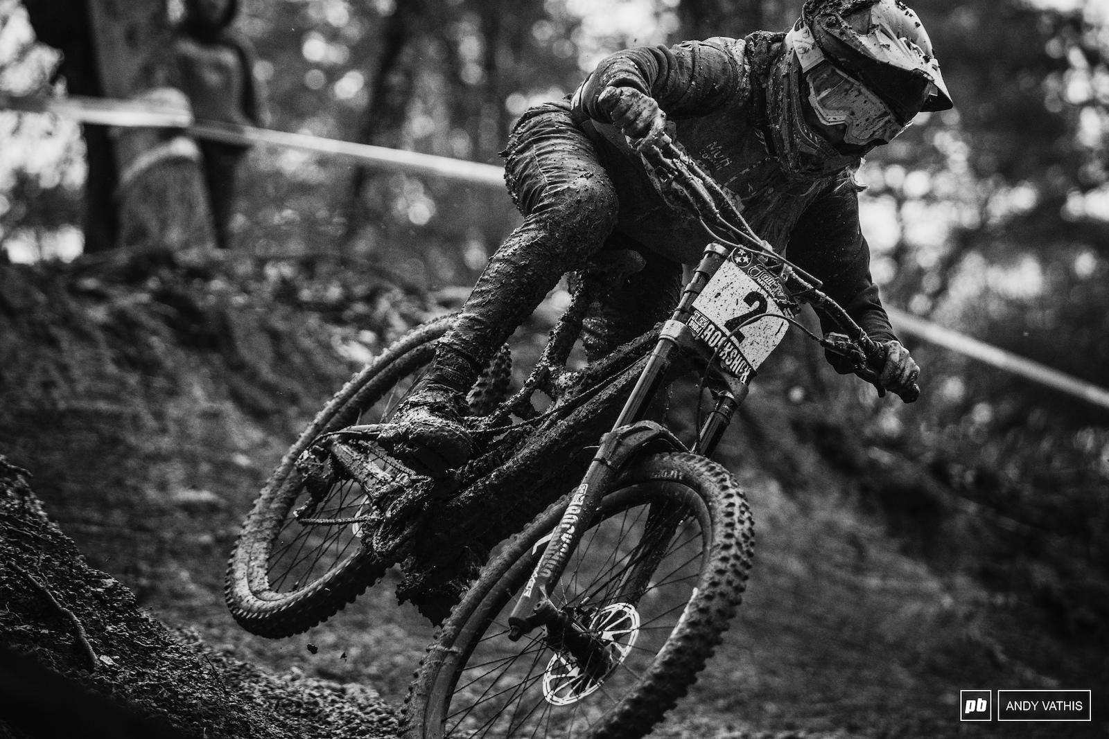 A mud covered Frida Roenning had high hopes and rode the rutted course well.