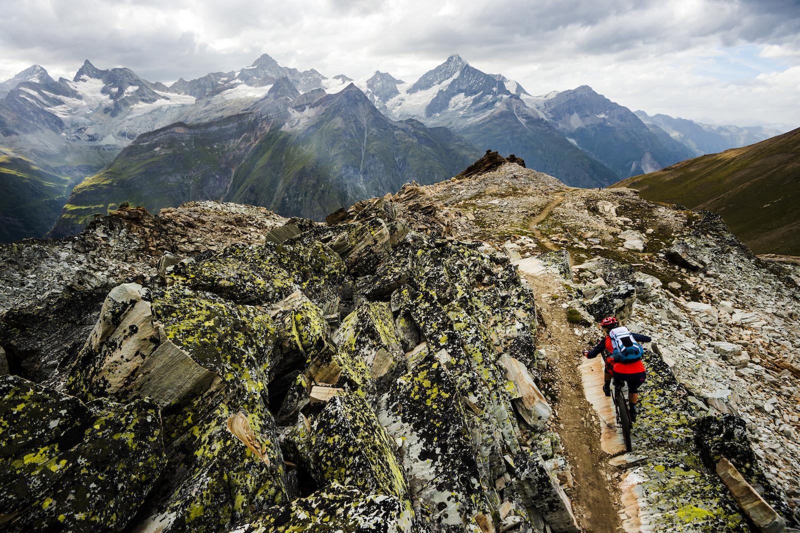 Julia Hofmann riding in Zermatt Switzerland. Photo Mattias Fredriksson.