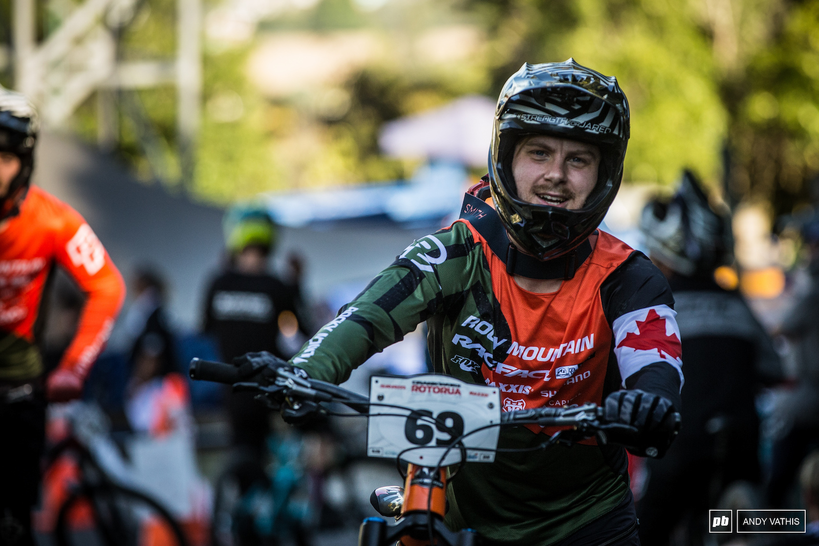 Remi Gauvin has his sights set on the EWS this weekend. I guess you can call this training then.