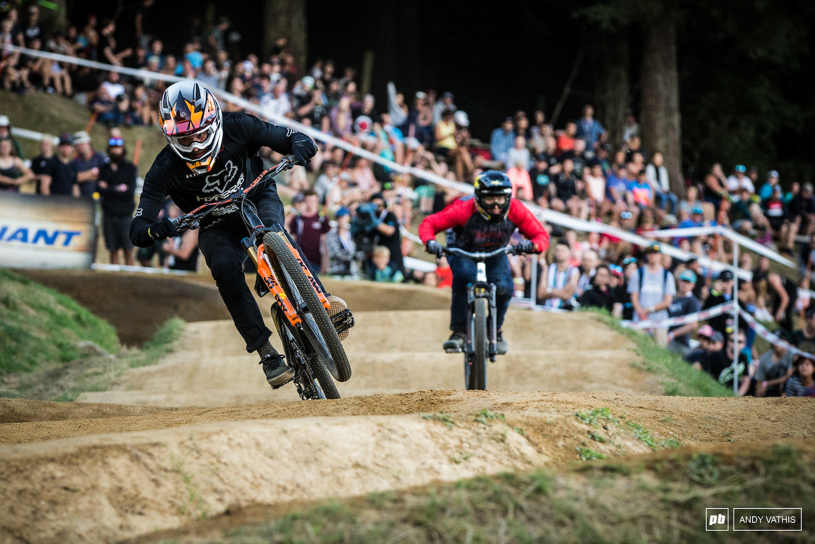 Bas Van Steenbergen running on speed but lacked a few points in the tricks department to move on further.