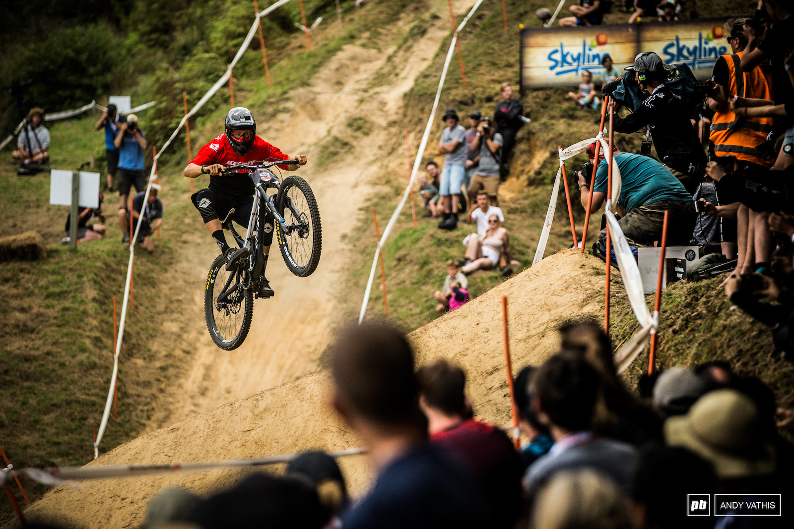 The reigning King of Crankworx and local boy Sam Blenkinsop would need more than a couple mid-air pedal strokes to claw back at the clock.