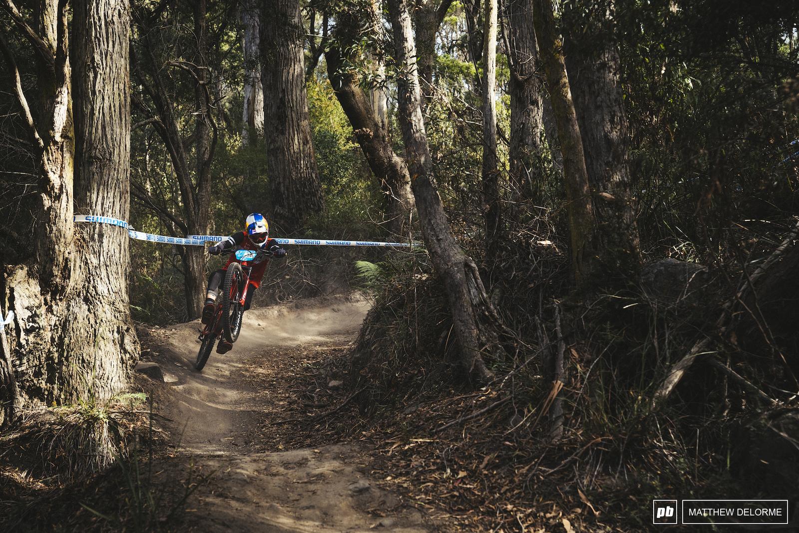 Pedro Burns is loving the tracks here in Tasmania.