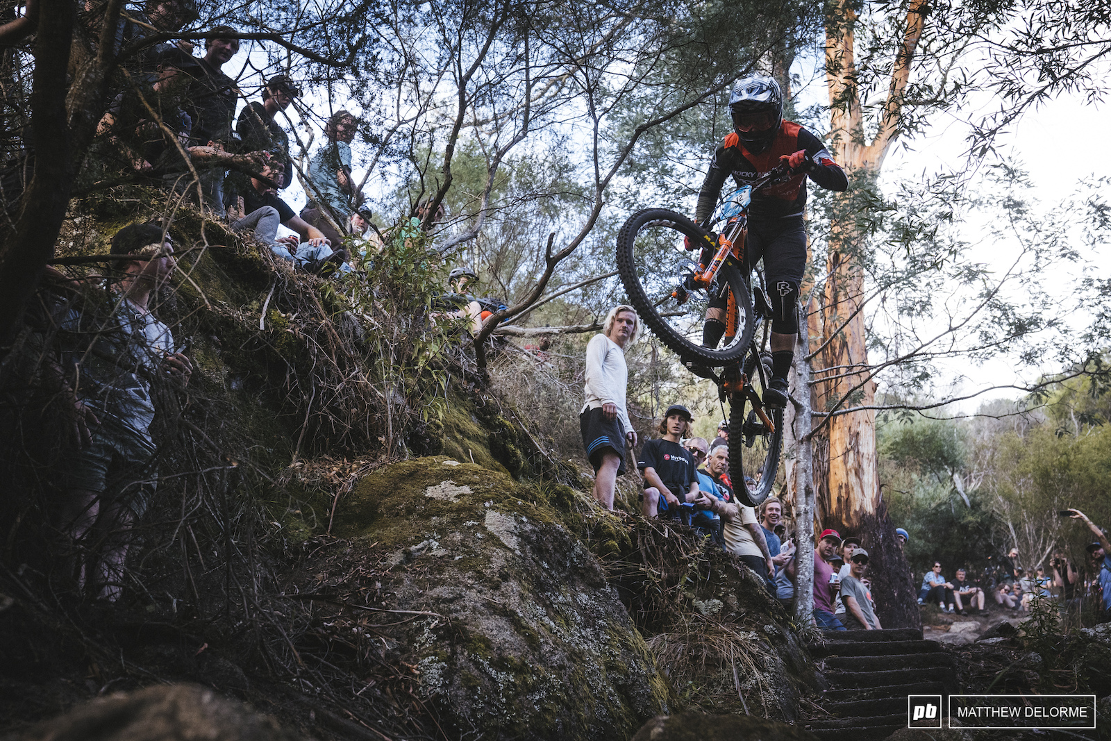 Remi Gauvin hucking his way tot he finish on stage six.