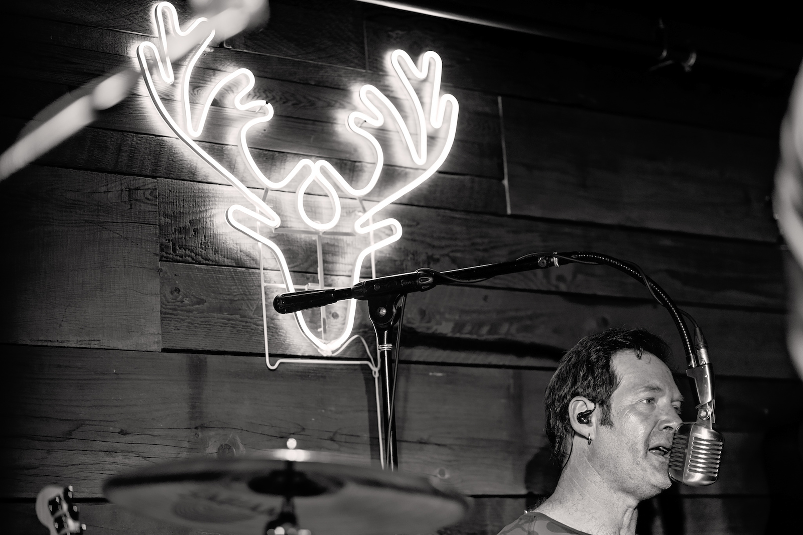 The Red Antler in black and white.
