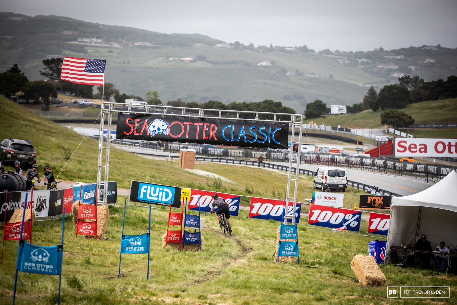 The final stage of the day took racers down the dual slalom track.