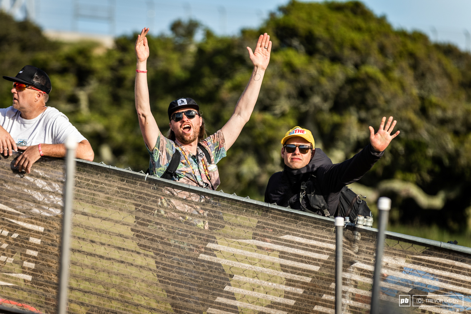 The fans were stoked with the racing.