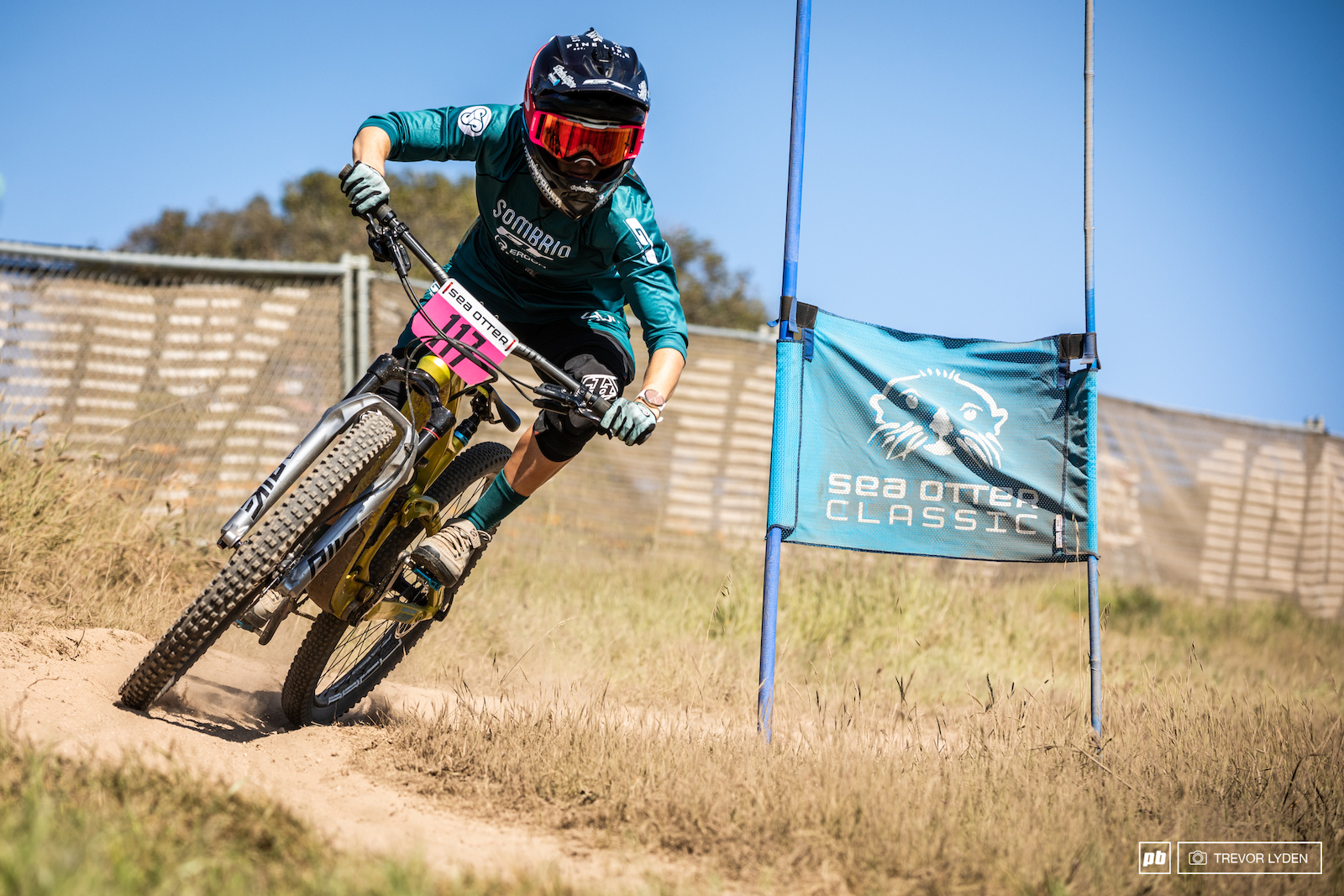 Rachel Strait on one of the top corners of the dual slalom course.
