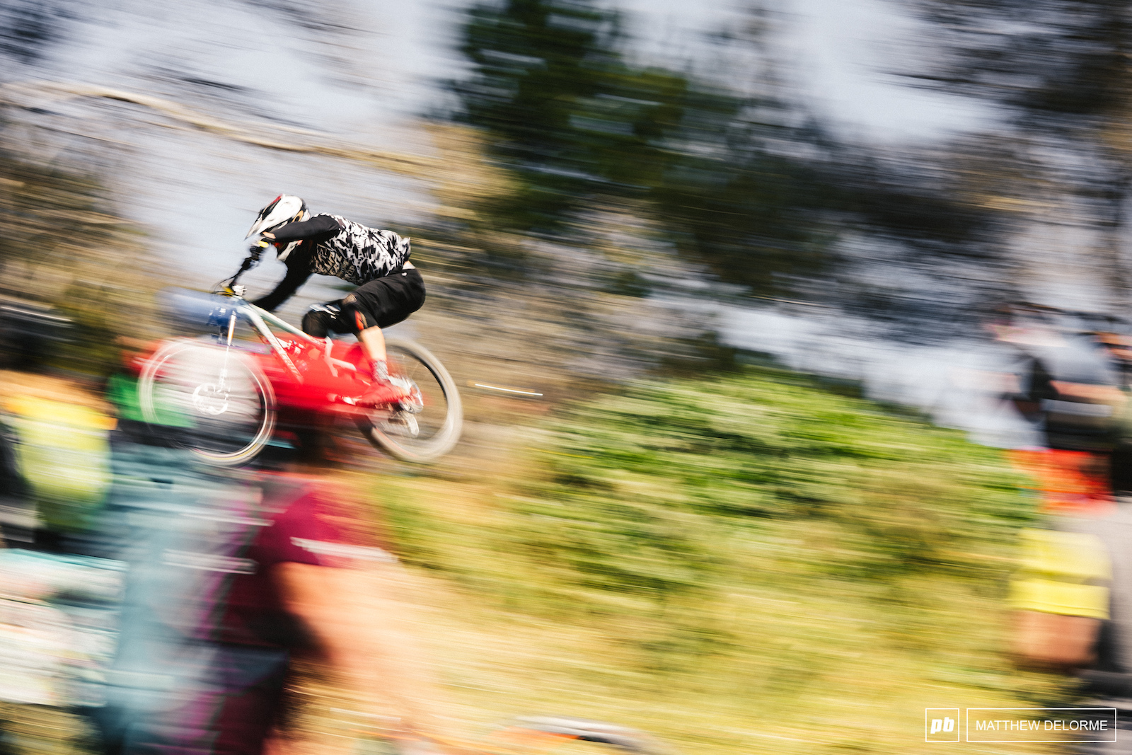 Every bit of momentum counts on the Sea Otter DH track.
