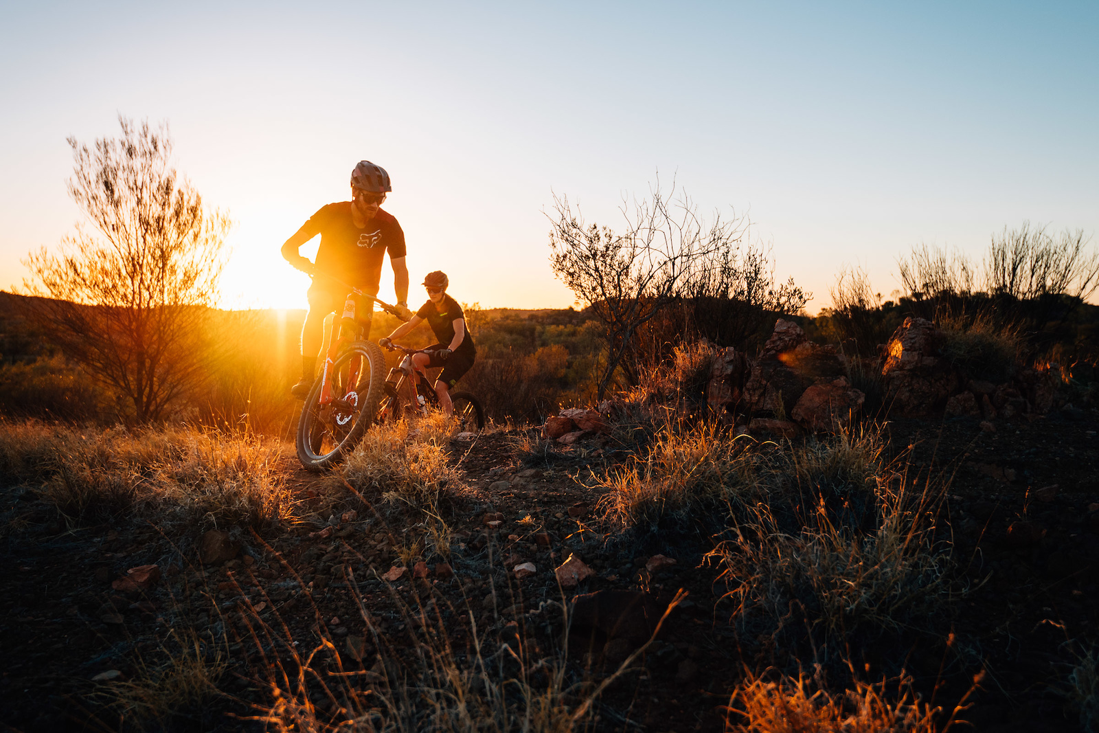 Starting off the day with a sunrise spin seemed popular around Alice Springs we encountered many people out there doing it.