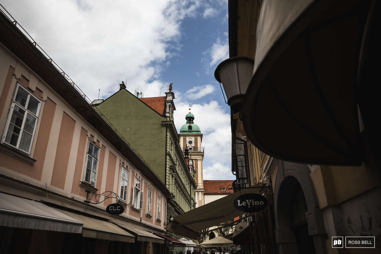 The narrow streets of Maribor s old town.
