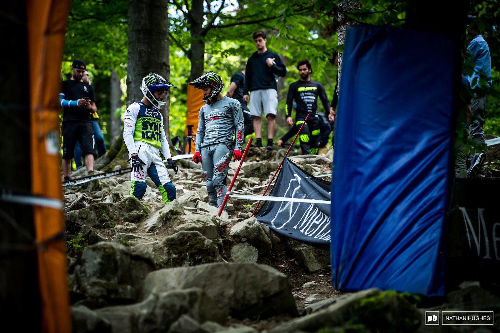 Close of play line dilemmas in the gnarliest rock garden on the circuit for the two of the fastest Frenchmen.