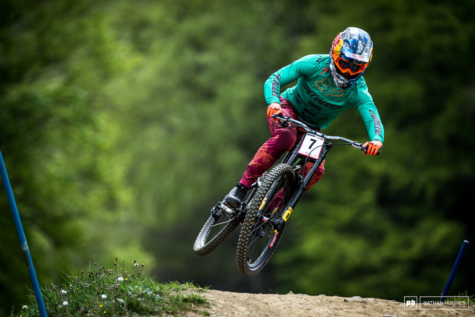 Multiple splashes of fresh color for fastest man on the hill today Loic Bruni.