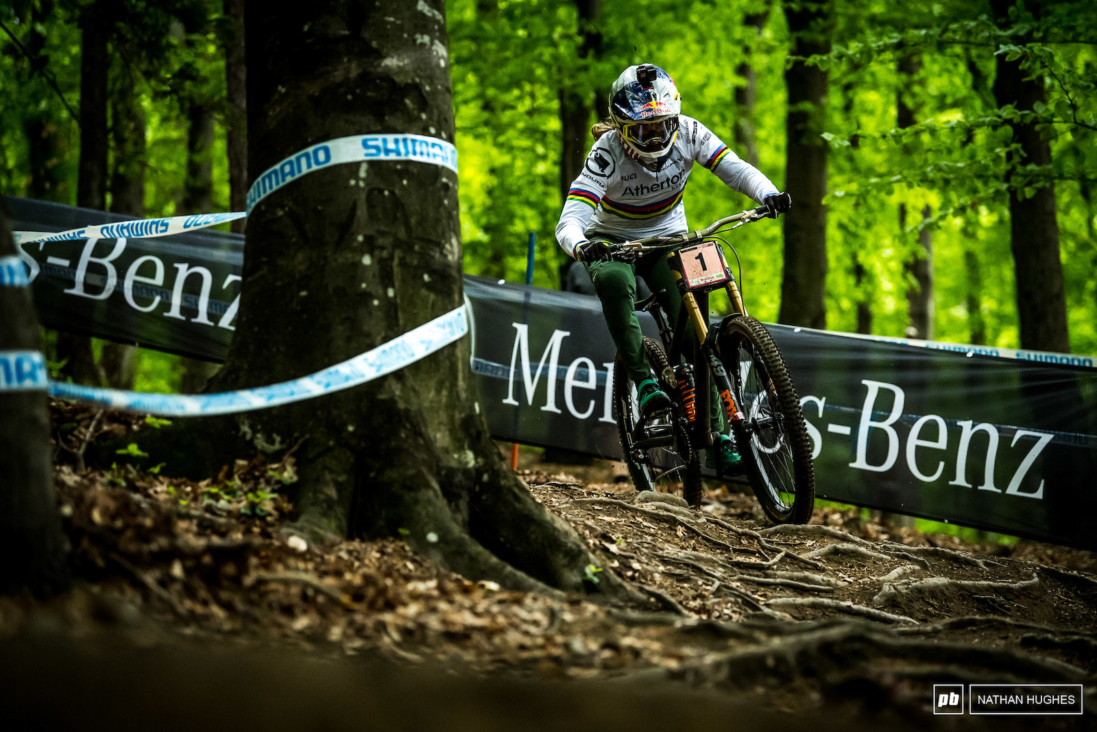 How hard did Rachel Atherton push Certainly not as hard as she always does on Sundays...