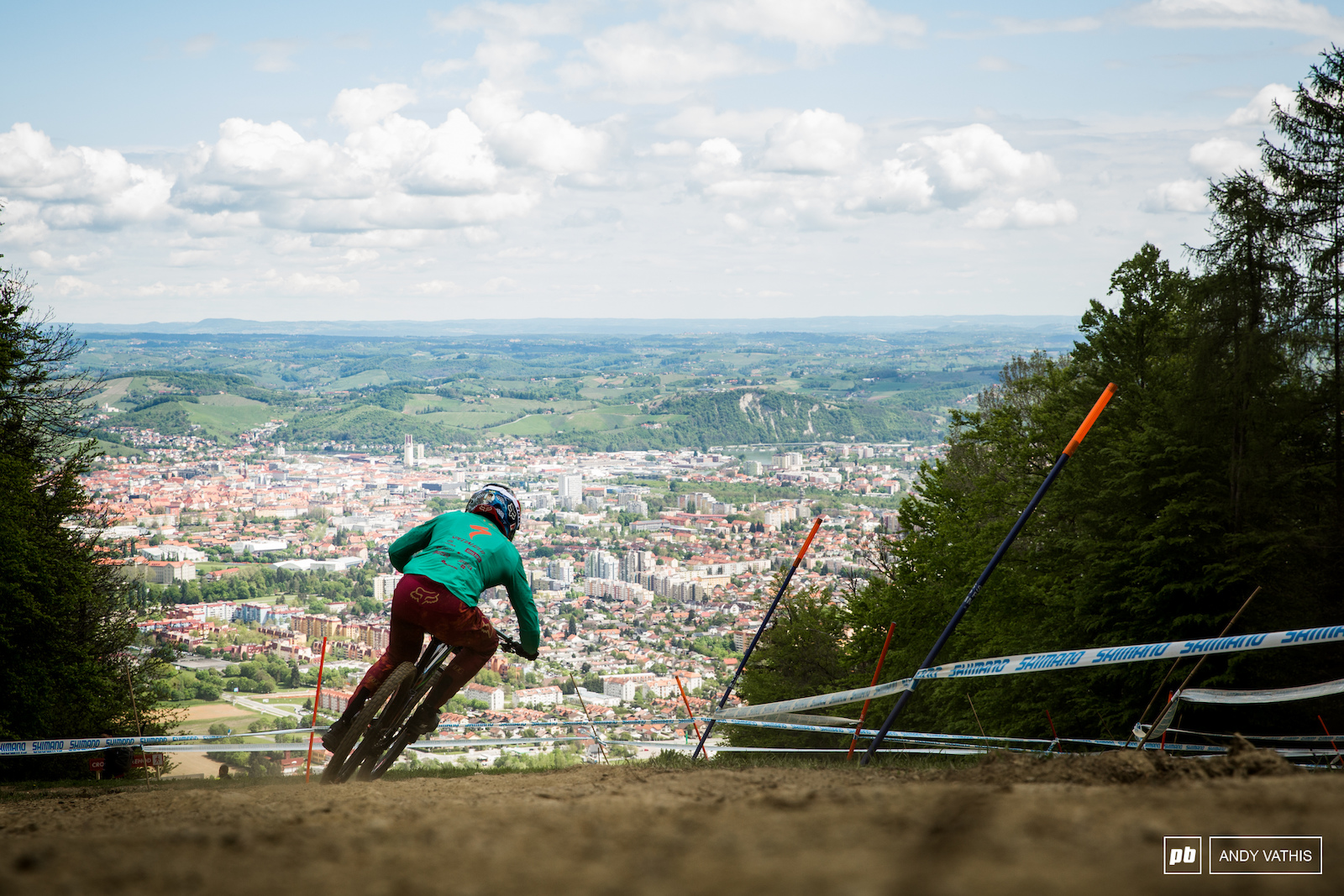 Loic Bruni enjoying the view before the inevitable clouds rolled in.