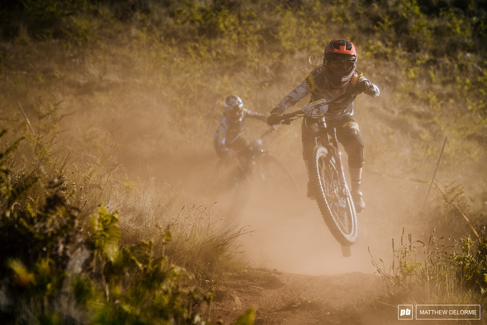 Isabeau finding her way through the dust on stage four.