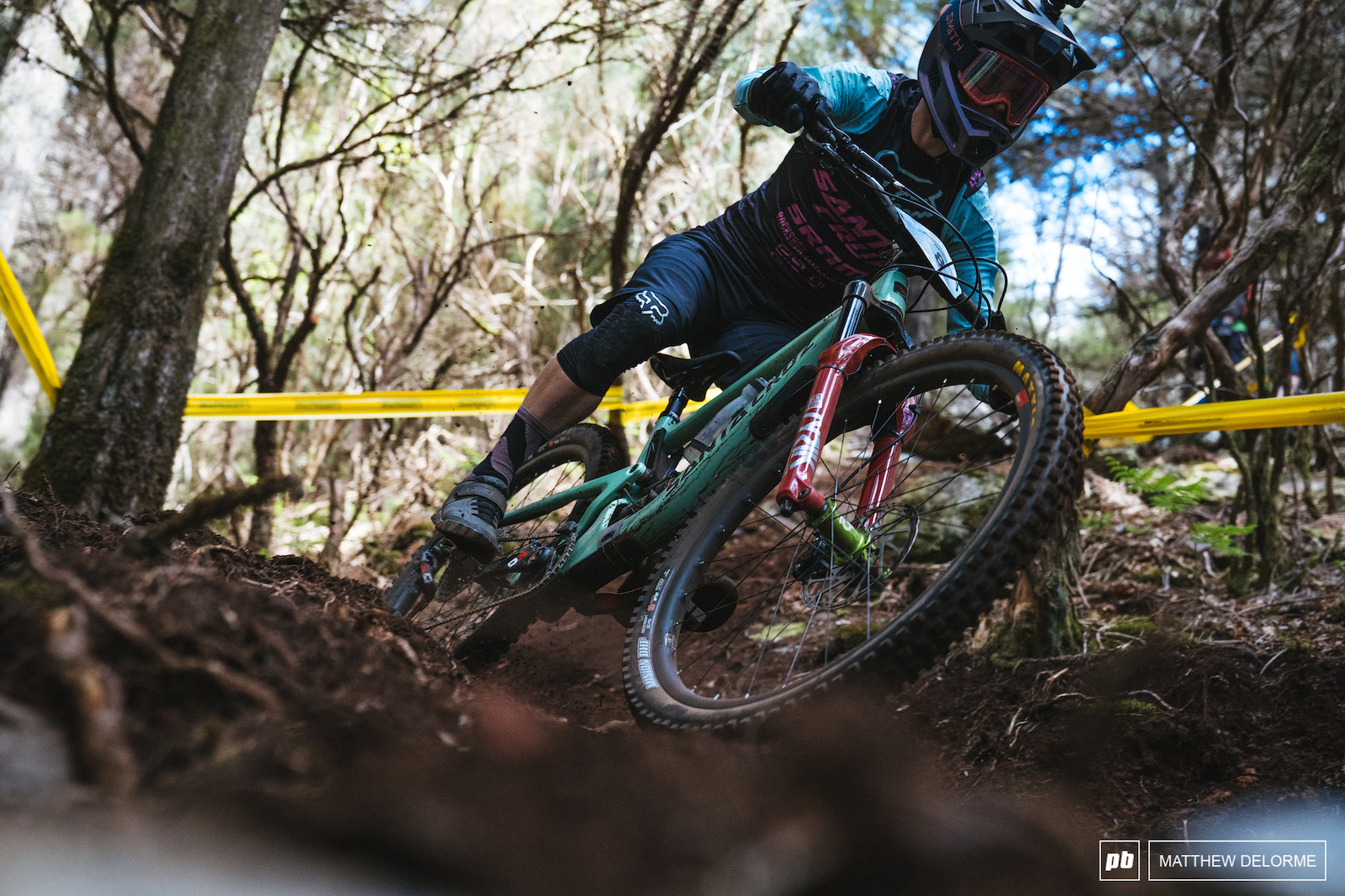 Mark Scott gets down to business in the fresh loam of stage six.