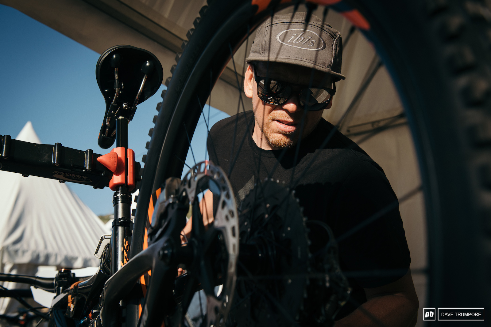 With five stages and no chance to stop at the pits at all during the day it is up to the mechanics too make sure everything is perfectly tuned before riders head off.