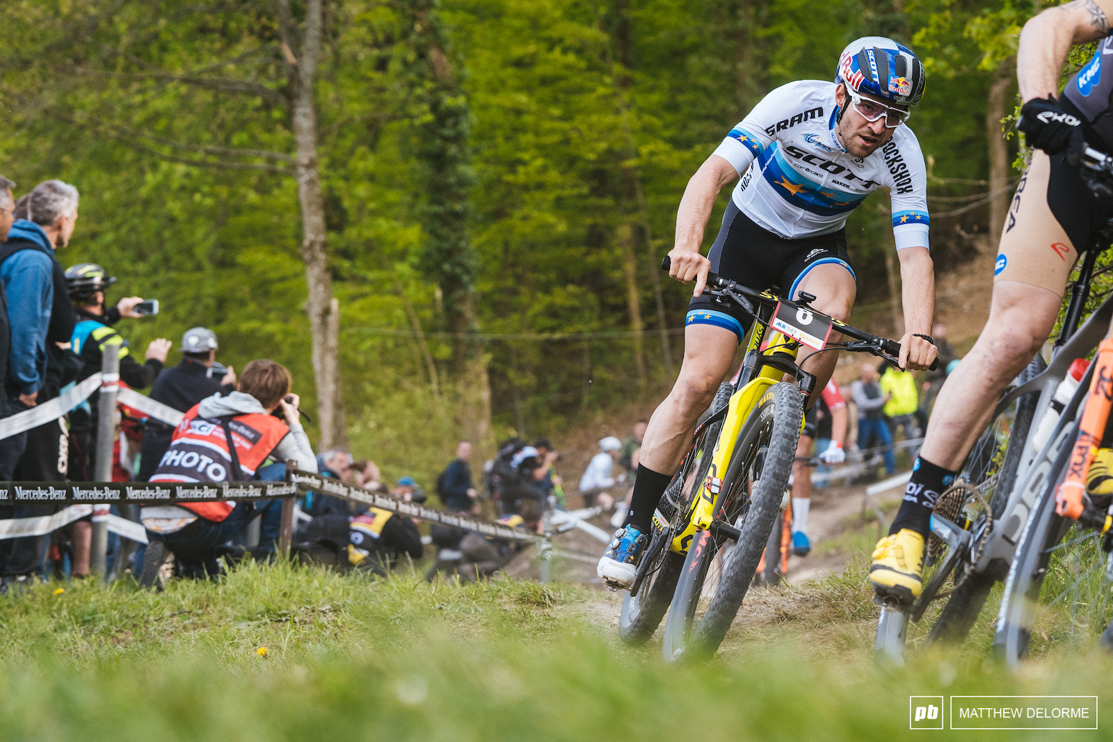 Lars Forster came close to taking it away from van der Poel but he couldn t match MVDP s power.