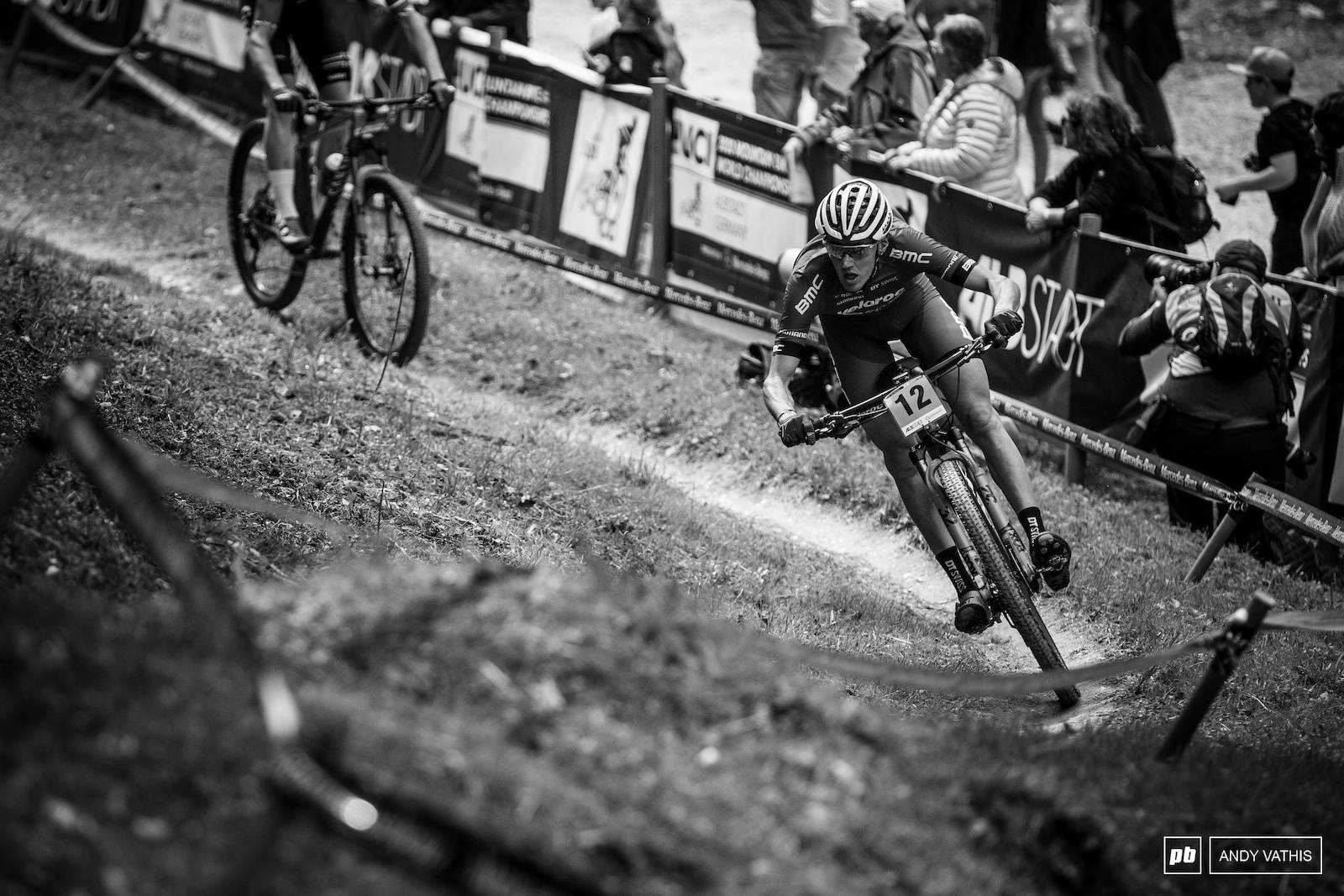 Antoine Philipp crushing the single track.