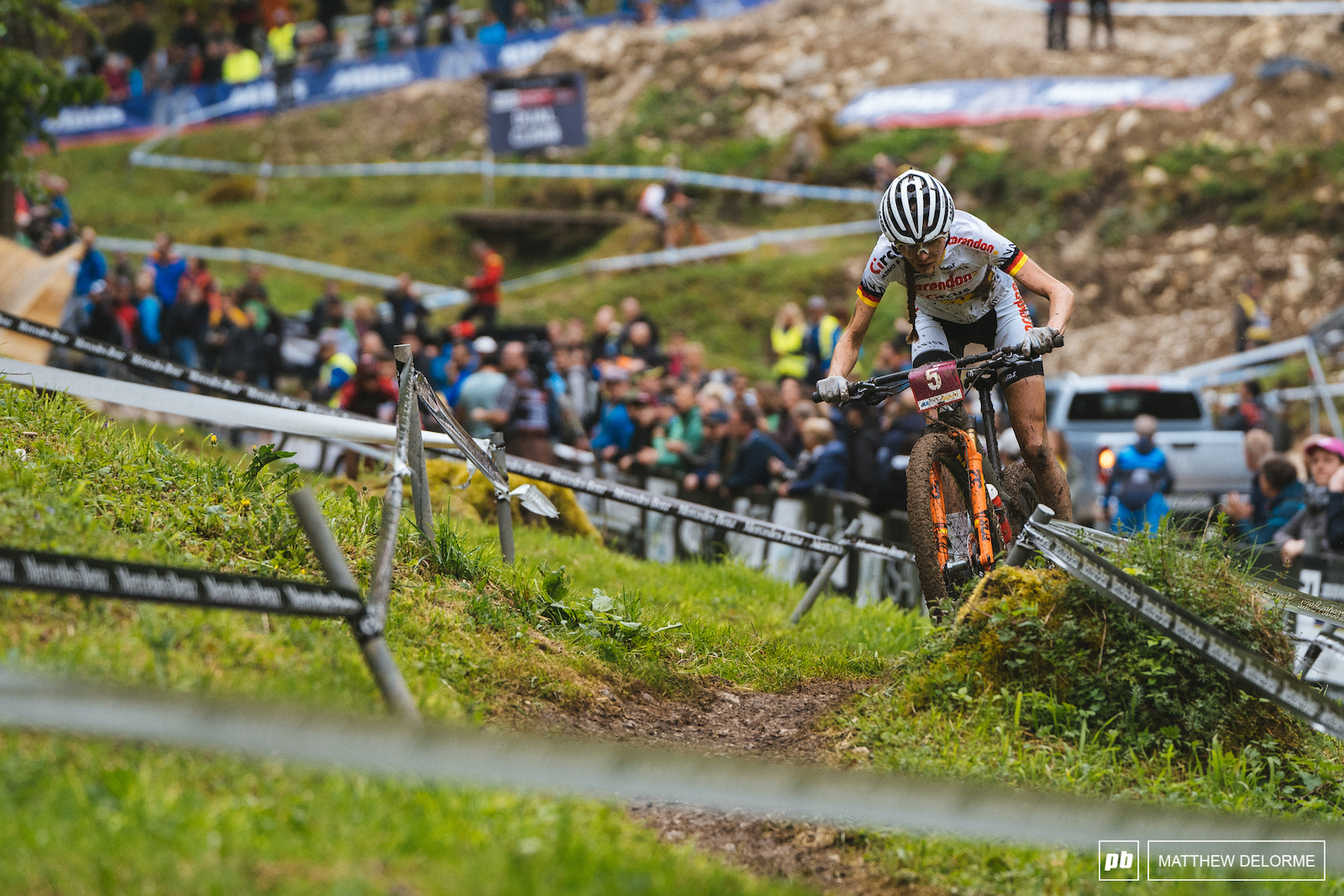Ronja Eibl takes second place for the u23 women.