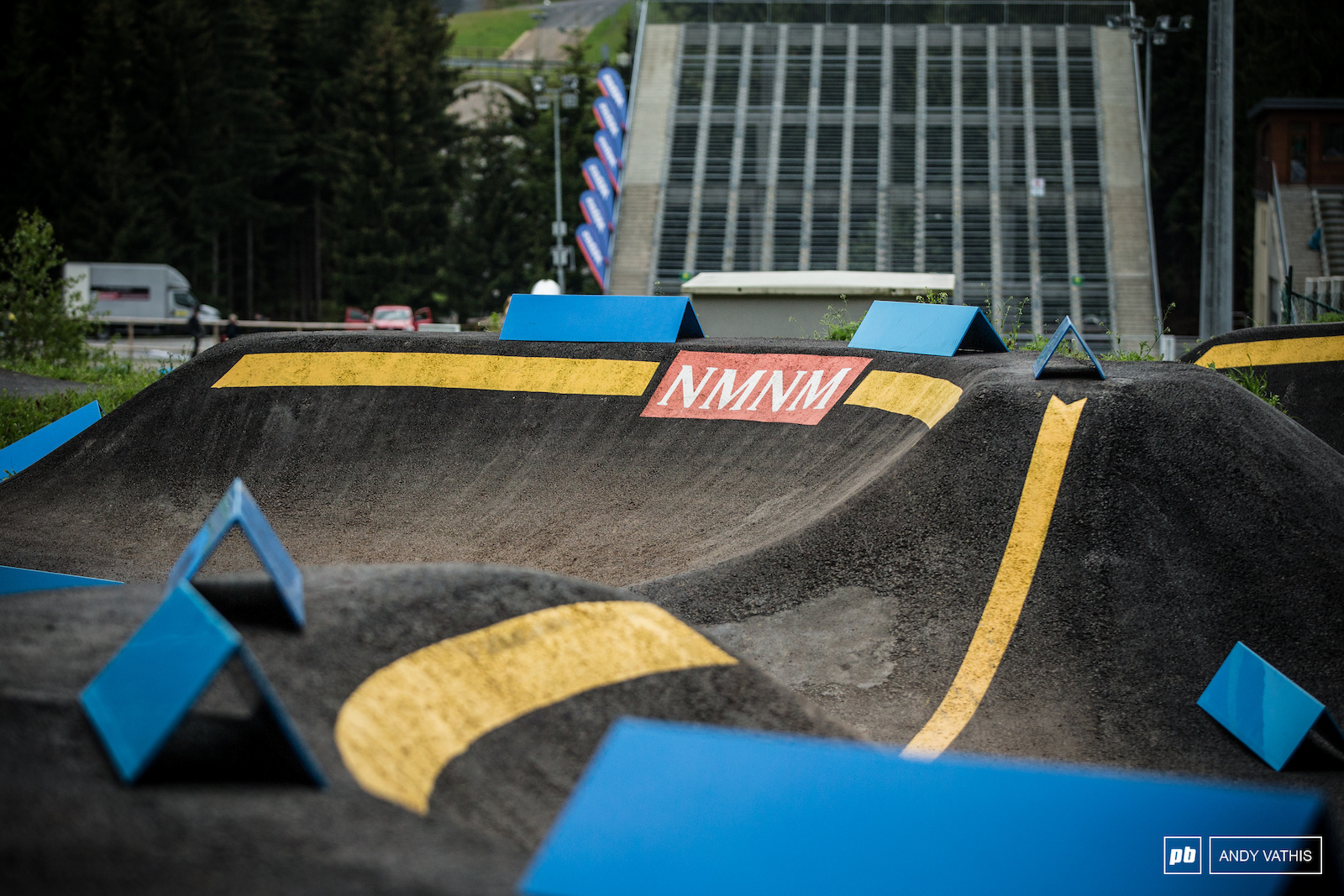 They ve added a pumptrack at the bottom because who doesn t love that and the end of their lap