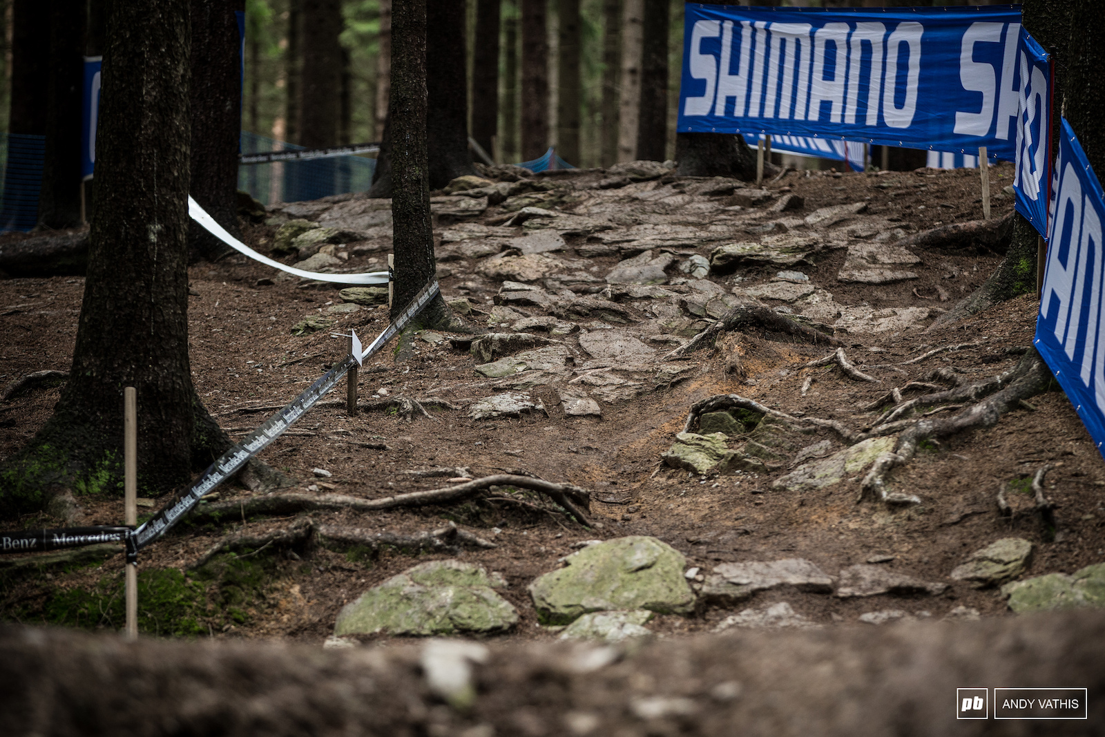 The Shimano Expert Climb is the first major obstacle racers will face on this course. Slippery rocks in the wet and dry.