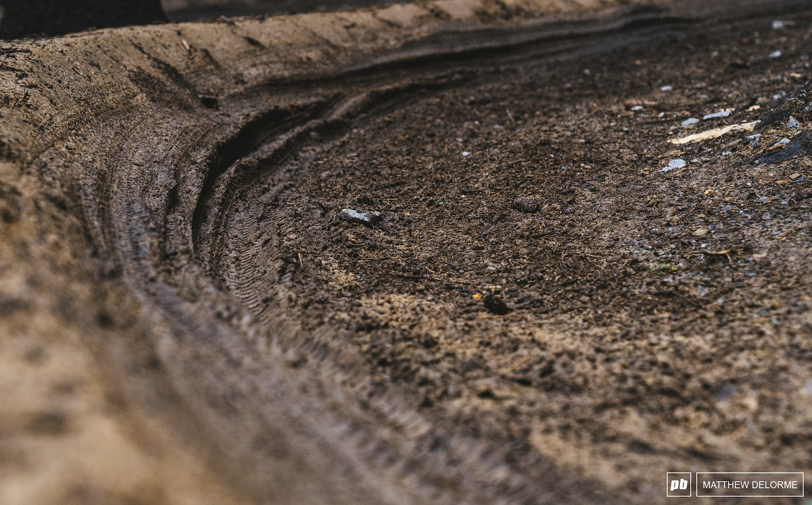 The rains have made the ruts form here and there but this track holds up pretty damn well when it pours.