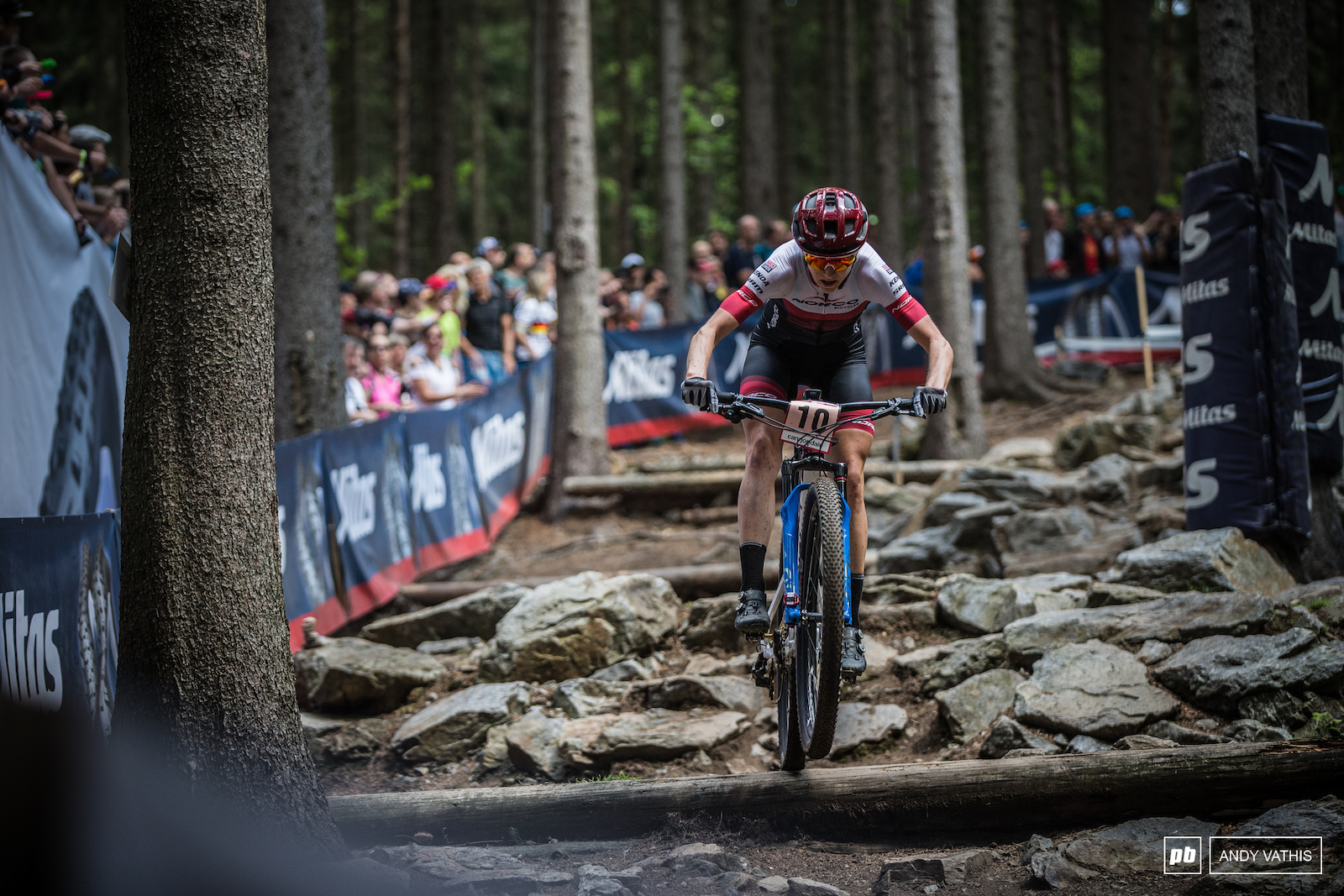 Major milestone for Haley Smith today. She earned her first UCI World Cup podium in third and the fastest lap time in the Women s field. She s been climbing that ladder steady now.
