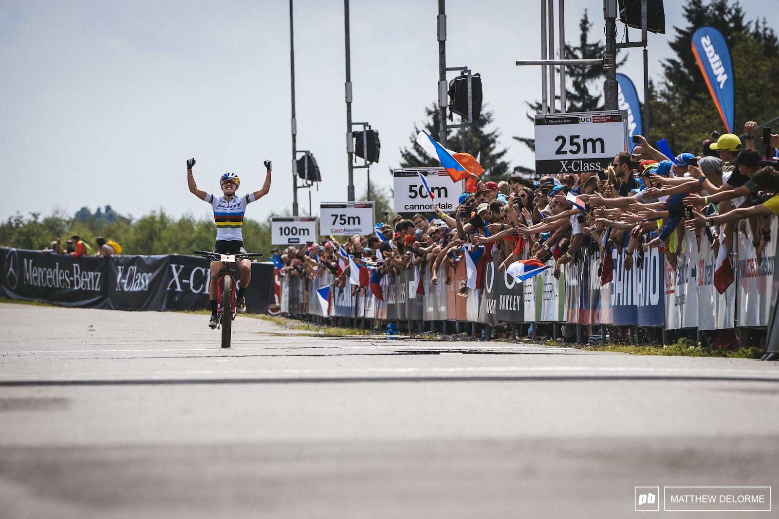 Kate Courtney turned a race she thought had slipped away around to another win.