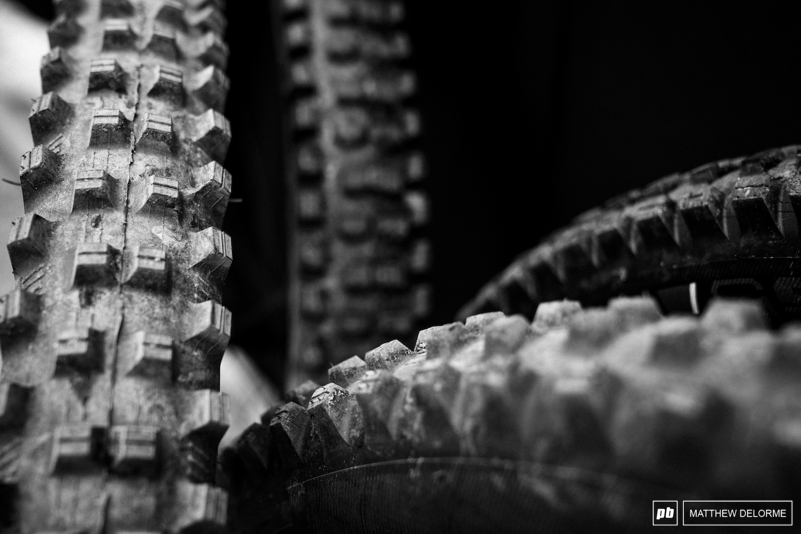 Tire choices at the ready. The weather looks grim.