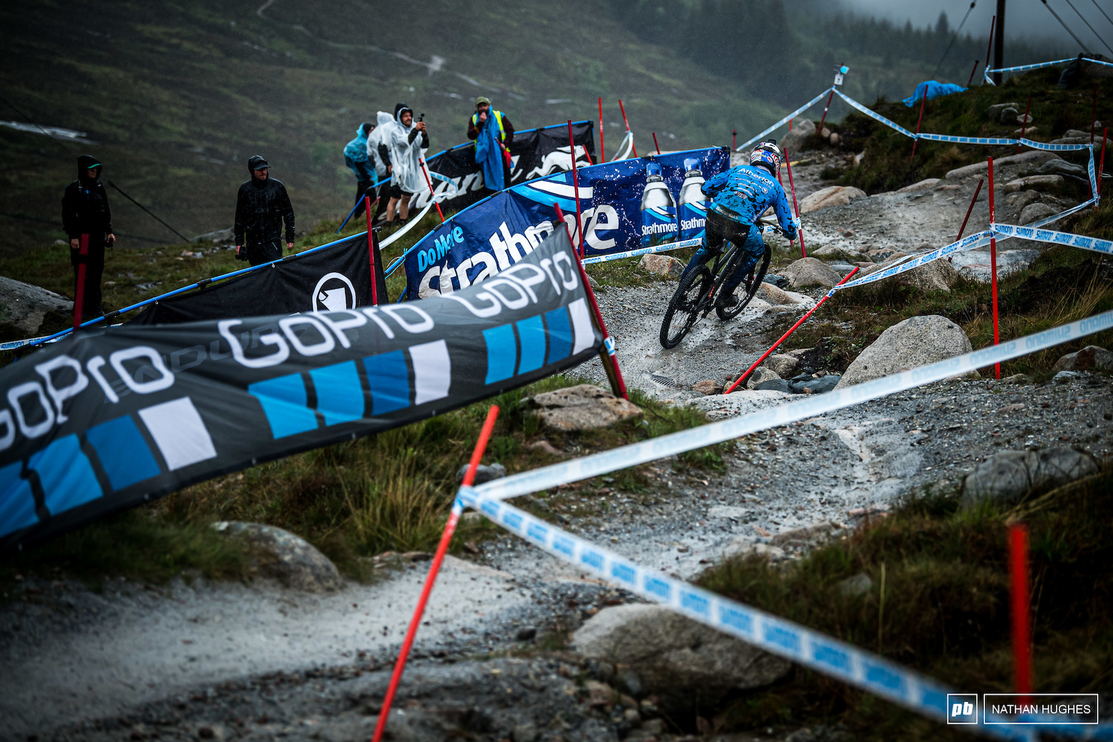 Gee Atherton loves a wet one and he s done it all before here in the Highlands.