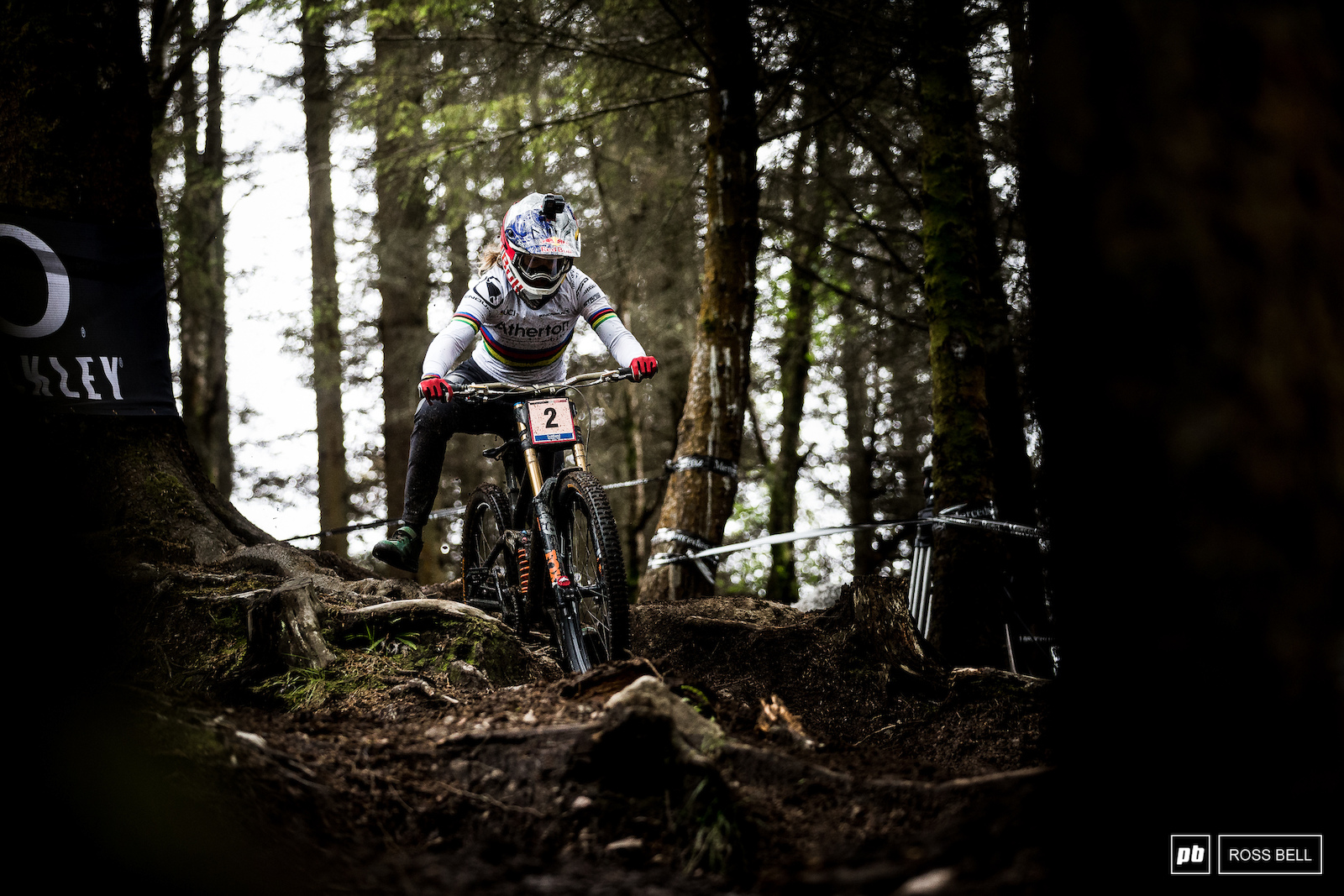 Rachel Atherton had a wild ride on her qualifying run and will be hungry to clean it all up for tomorrow.