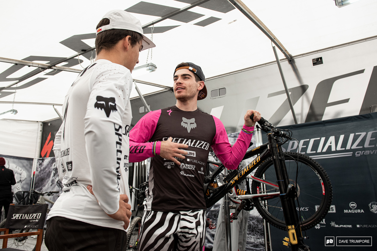 Loic Bruni and Finn Iles keep the mood light before getting down to more serious business on track.