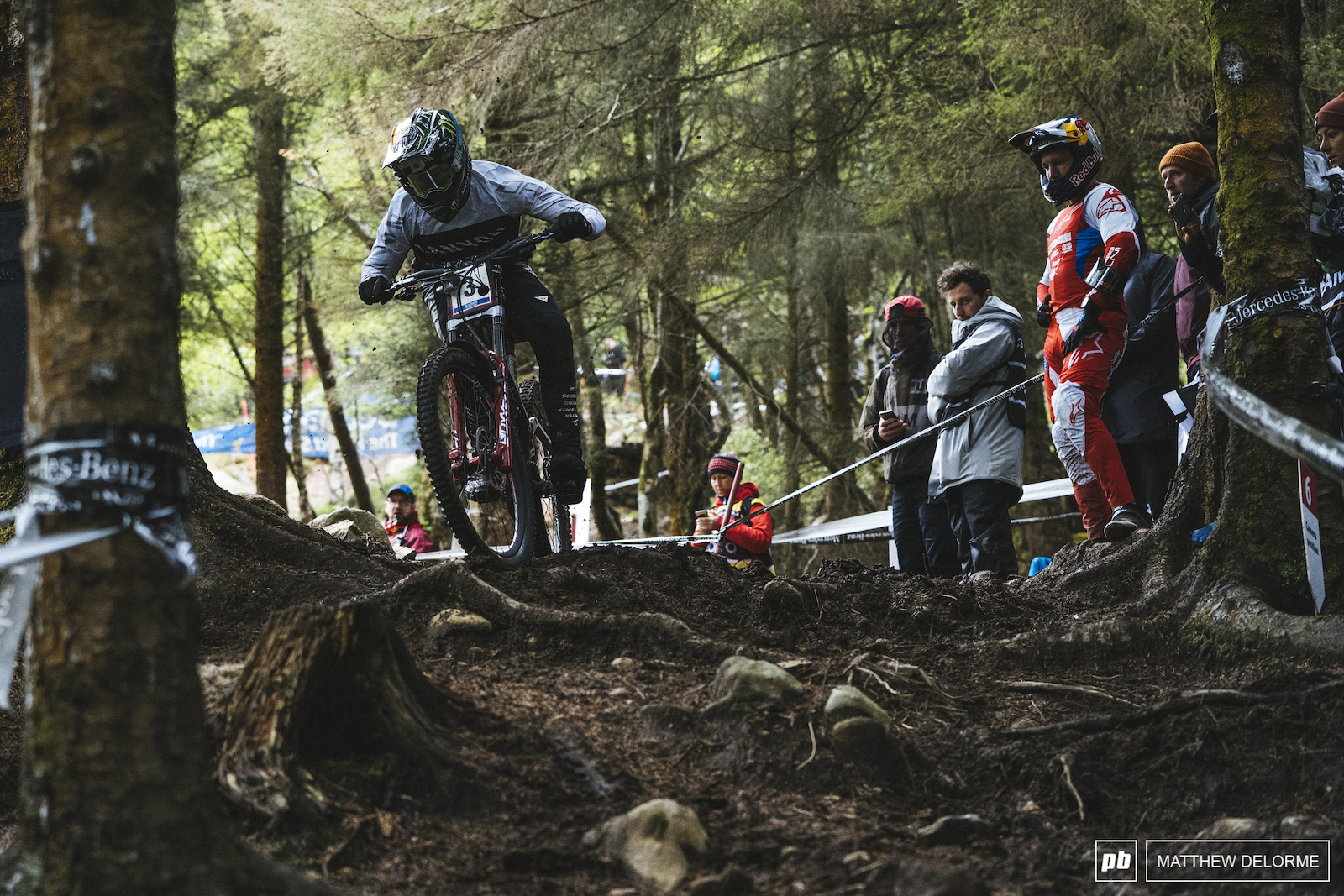 Troy Brosnan floated across the roots and rocks to third today.