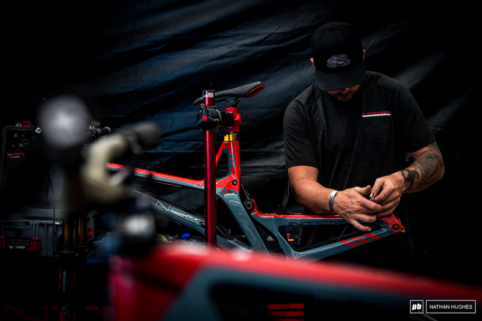 Finishing touches from John Hall on the Gwizard s new ride.