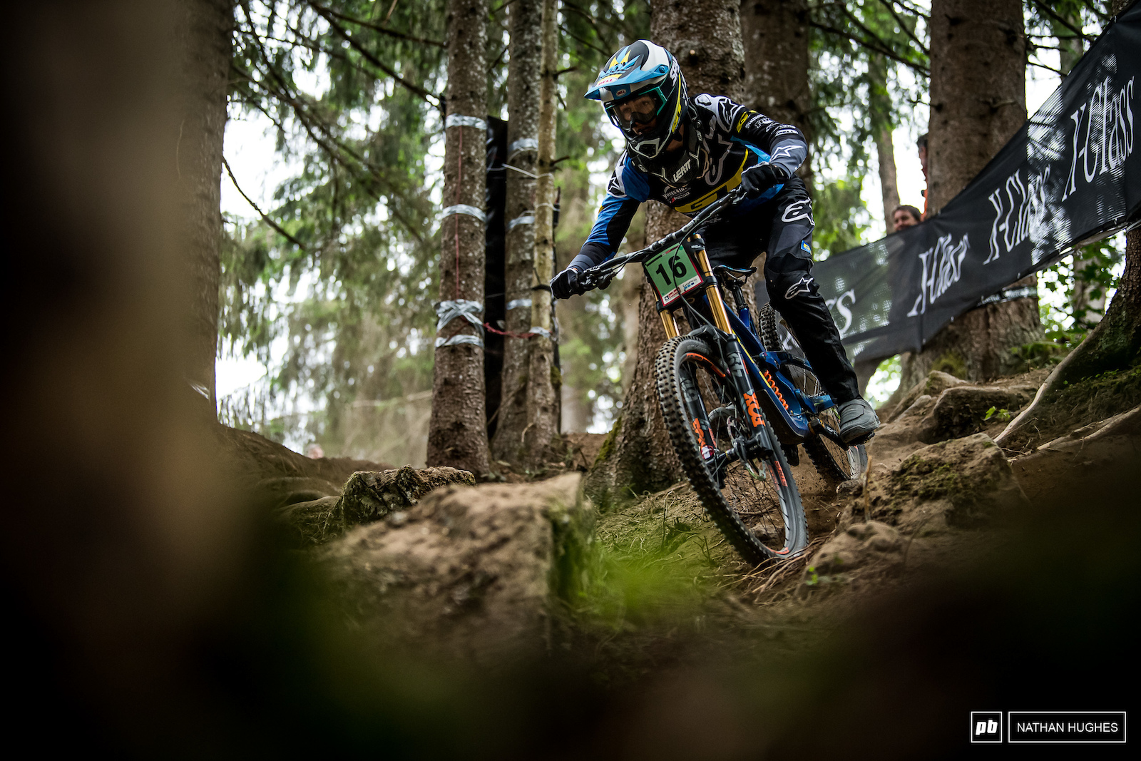 Joseph Foresta riding to 3rd place in the loam today in the juniors.